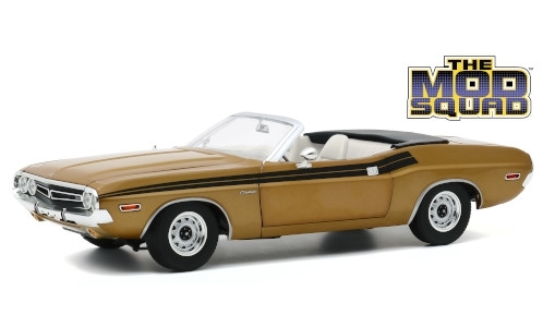 Dodge Challenger 340 Convertible, gold/schwarz, The Mod Squad