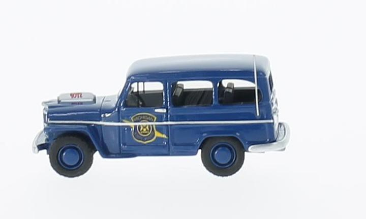 Jeep Willys Station Wagon, blau, Michigan State Police
