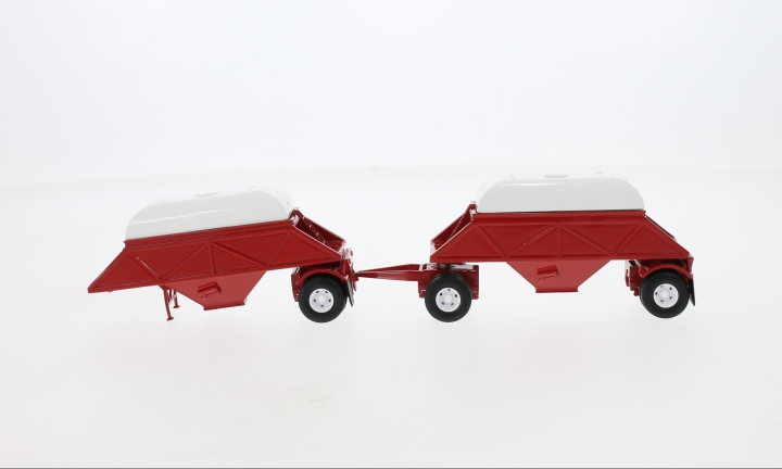 Anhänger Double Bottom Dump Trailer, rot